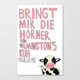 Wilmington's Cow Canvas Print