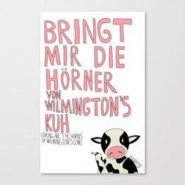 Wilmington's Cow Canvas Print