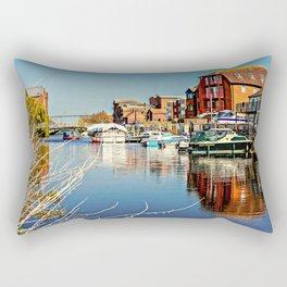 At the riverside. Rectangular Pillow