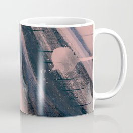Light as a Feather: a minimal abstract piece in pink and blue by Alyssa Hamilton Art Coffee Mug