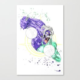 Face Off - Merged Zamasu Canvas Print