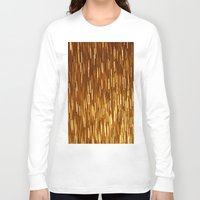 gold glitter Long Sleeve T-shirts featuring Gold Glitter 1394 by Cecilie Karoline