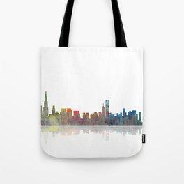 Chicago Skyline 1 BW1 Tote Bag