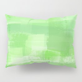Eat Your Greens, Painted Plaid I Pillow Sham