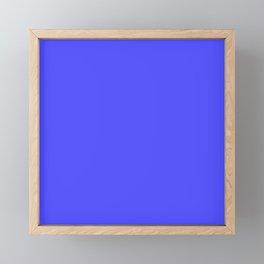 Bright Fluorescent Neon Blue Framed Mini Art Print