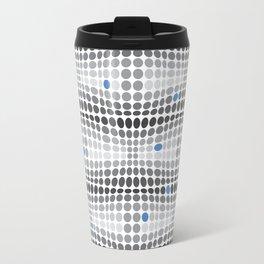 Dottywave - Grey and blue wave dots pattern Travel Mug