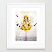 ganesha Framed Art Prints featuring Ganesha by O. Be