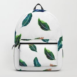 Watercolor Tribal Feathers Backpack