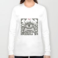 all seeing eye Long Sleeve T-shirts featuring All seeing eye by Andready