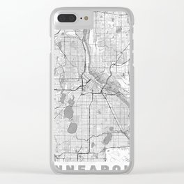 Minneapolis Map Line Clear iPhone Case