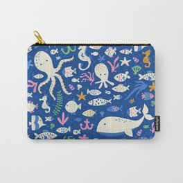 Sea Life Pattern Carry-All Pouch