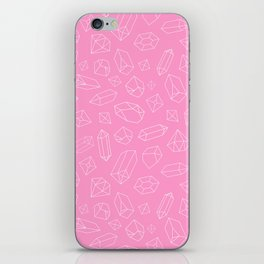 Pink Crystal Pattern Line Drawing iPhone Skin