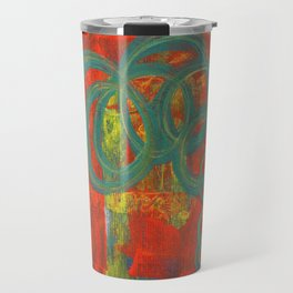 Green spirals Travel Mug
