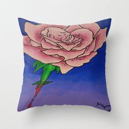 Every Rose has Thorns Throw Pillow