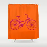 bicycle Shower Curtains featuring Bicycle by Mr and Mrs Quirynen