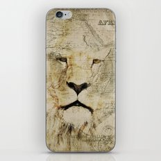 Lion Vintage Africa old Map illustration iPhone & iPod Skin