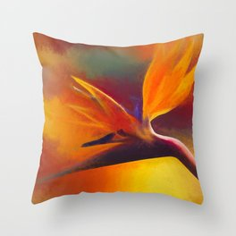 Strelitzia - nothing else Throw Pillow