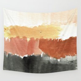 Abstract in Rust n Clay Wall Tapestry