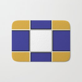 TEAM COLORS 3..... Navy , gold and white Bath Mat