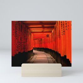 Walk through the red path Mini Art Print