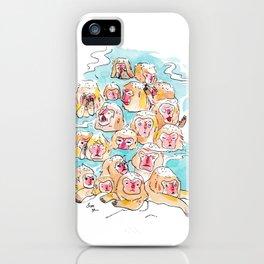 Wild Family Series - Snow Monkey iPhone Case