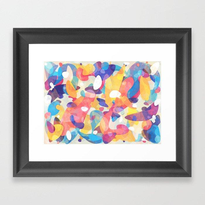 Chaotic Construction Framed Art Print