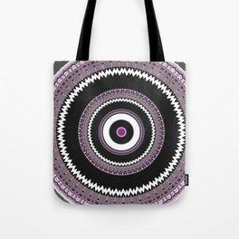 Decorative Pantone Purple Grey Mandala Tote Bag