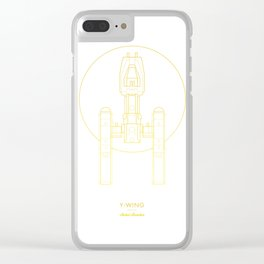 Y-Wing Gold Clear iPhone Case
