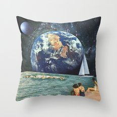 Earthly Currents Throw Pillow