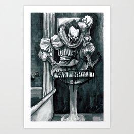 Clown in the Drain Art Print