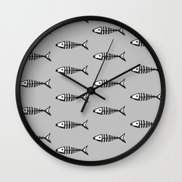 Fish out of Water (grey) Wall Clock