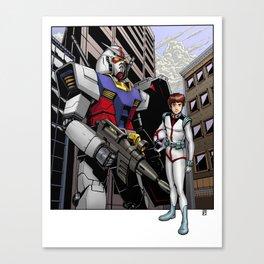 Gundam and Amuro Ray Canvas Print