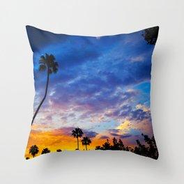 California sunset ii Throw Pillow