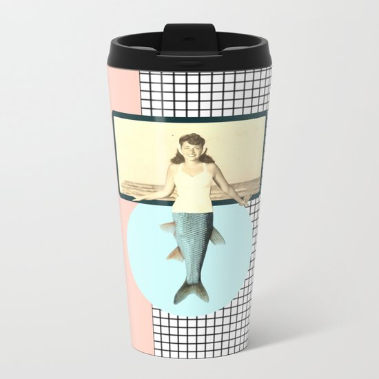 mermaid style Metal Travel Mug