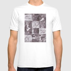mountains White Mens Fitted Tee SMALL