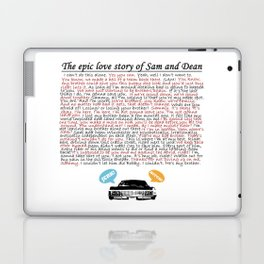Epic Love Story of Sam and Dean Laptop & iPad Skin
