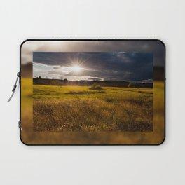 Breathtaking sunset above meadow Laptop Sleeve