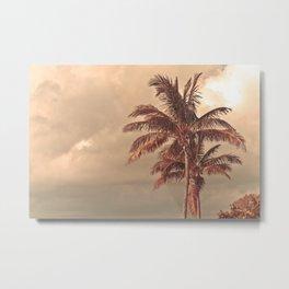 Retro Palm Tree Metal Print