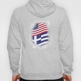 Greek American Flag Hoody