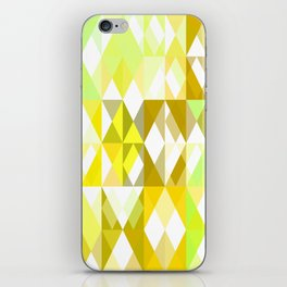 Pale Yellow Poinsettia 1 Abstract Triangles 1 iPhone Skin