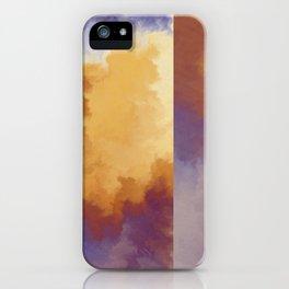 Shades of Autumn Orange And Blue Fractal iPhone Case