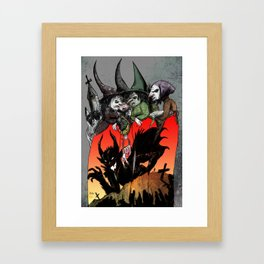 Witches meeting Framed Art Print