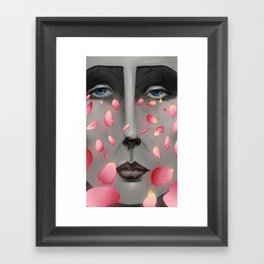 Their Falling Gaze Framed Art Print