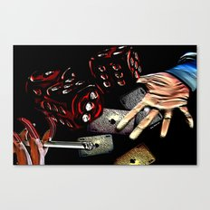 Rollin (black/red) Canvas Print