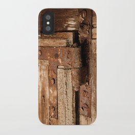 LOST PLACES - dusty rusty hinge iPhone Case