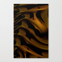 Carved In Wood Canvas Print