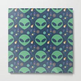 Aliens in Outerspace Metal Print