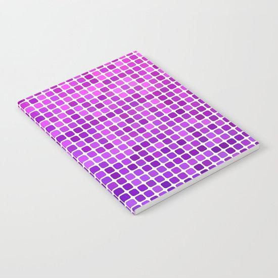 Pink purple mosaic Notebook