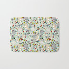 Cute Bunny Rabbits Bath Mat