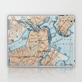 Vintage Map of Boston MA (1906) Laptop & iPad Skin